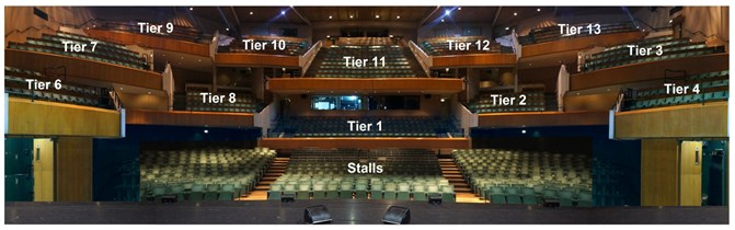 Seating plan for main theatre