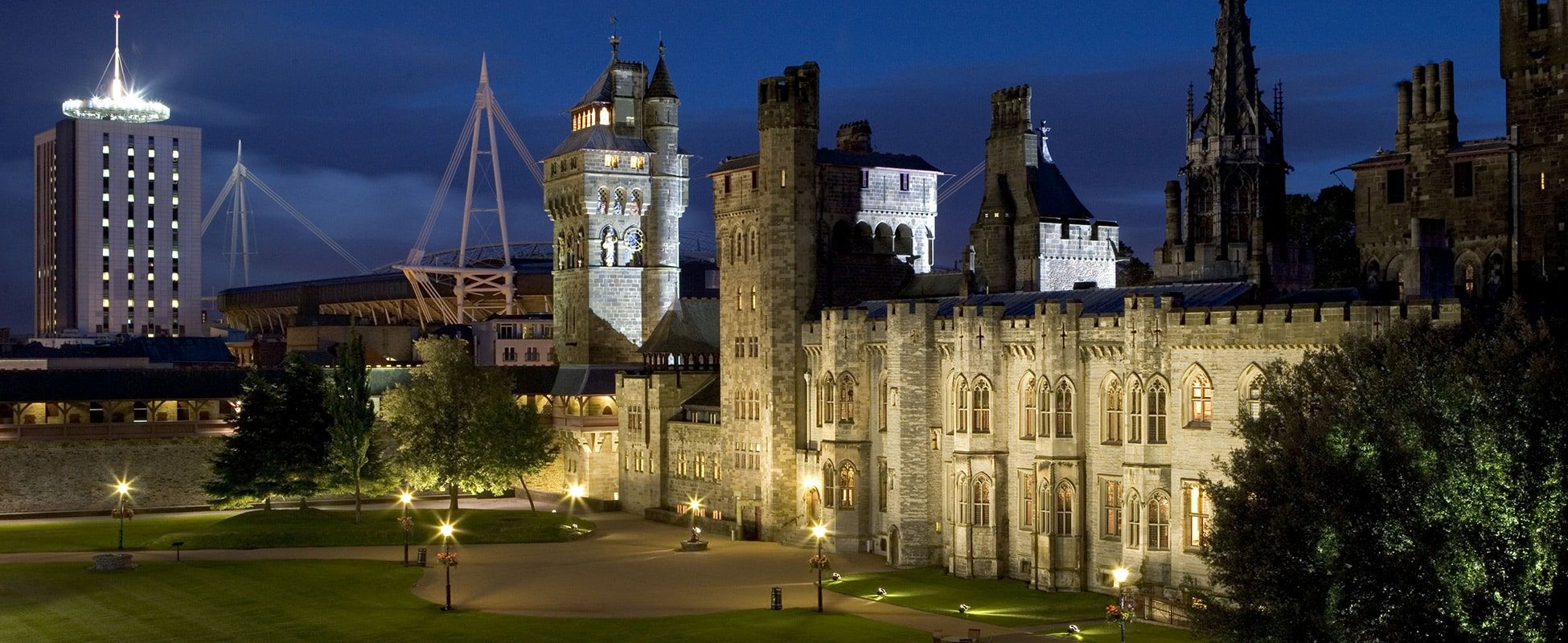 Cardiff Castle Night-time